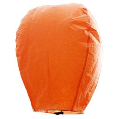 Σετ 5 τμχ Ιπτάμενα αυθεντικά κινέζικα φαναράκια  πορτοκαλί χρώματος, μέγεθος Large