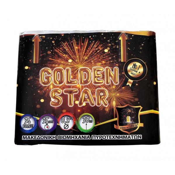 Πακέτο με πυροτεχνήματα Golden Star 36 βολές