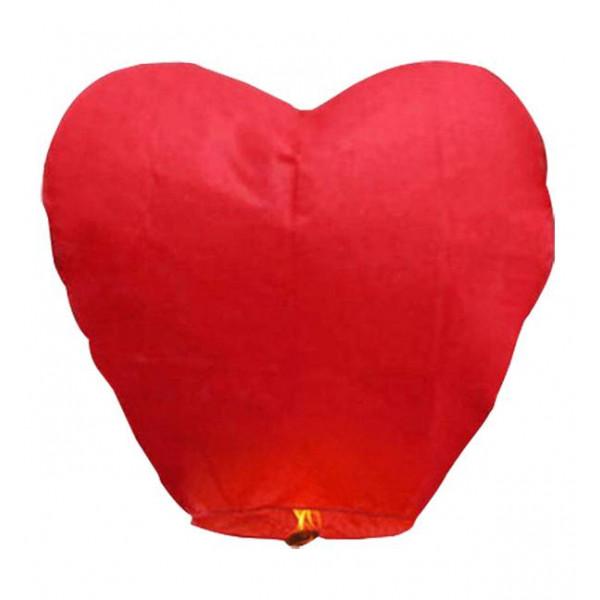 Ιπτάμενα αυθεντικά κινέζικα φαναράκια  Κόκκινη Καρδιά XL σετ 10 τεμ