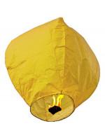 Σετ 10 τμχ ιπτάμενα αυθεντικά κινέζικα φαναράκια  κίτρινου χρώματος, μέγεθος Large