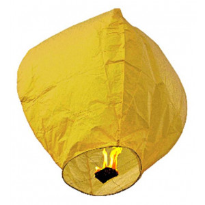 Ιπτάμενο αυθεντικό κινέζικο φαναράκι B&L κίτρινου χρώματος, μέγεθος Large