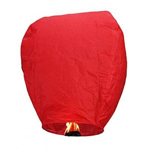Ιπτάμενα αυθεντικά κινέζικα φαναράκια κόκκινου χρώματος, μέγεθος Large σετ 10 τεμ