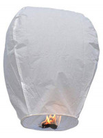 Σετ 10 τμχ Ιπτάμενα αυθεντικά κινέζικα φαναράκια  χρώματος λευκού, μέγεθος Large