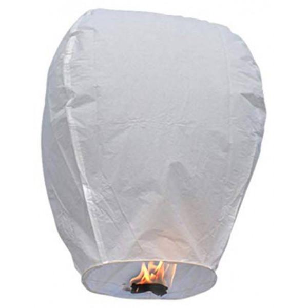 Σετ 10 τμχ Ιπτάμενα αυθεντικά κινέζικα φαναράκια B&L χρώματος λευκού, Large
