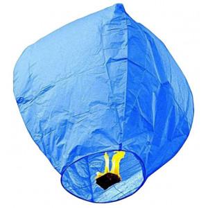 Ιπτάμενο αυθεντικό κινέζικο φαναράκι B&L μπλε χρώματος, μέγεθος Large