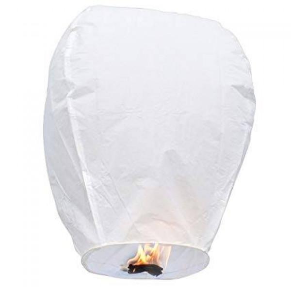 Ιπτάμενο Φαναράκι Γίγας Λευκό  Οβάλ Σετ 10 Τεμ