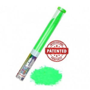 Κανόνι εφέ που εκτοξεύει πούδρα Holi Powder πράσινου χρώματος (1 τεμάχιο) Thunderboy