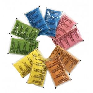 Σακουλάκια Holi Powder 70 γρ με πολύχρωμη πούδρα σετ 10 τεμ